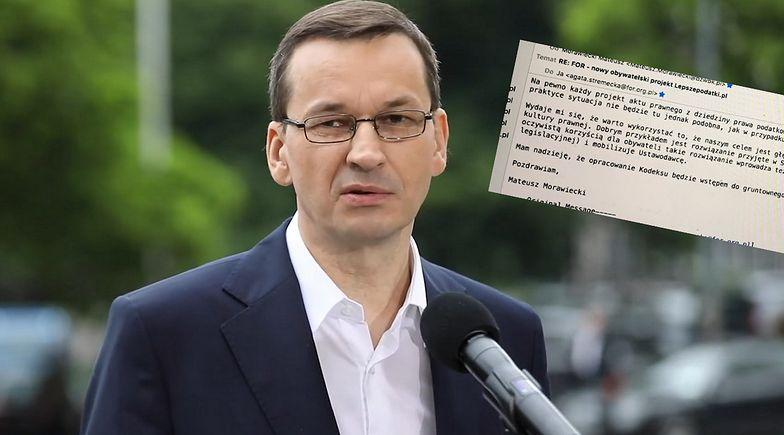 Pokazała stary mail Morawieckiego. To pisał, kiedy był prezesem banku