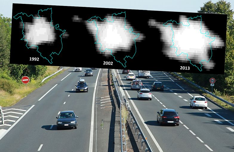 """Satelity pokazały, jak """"rozlewają"""" się polskie miasta. Nowe granice wyrównałyby dochody"""