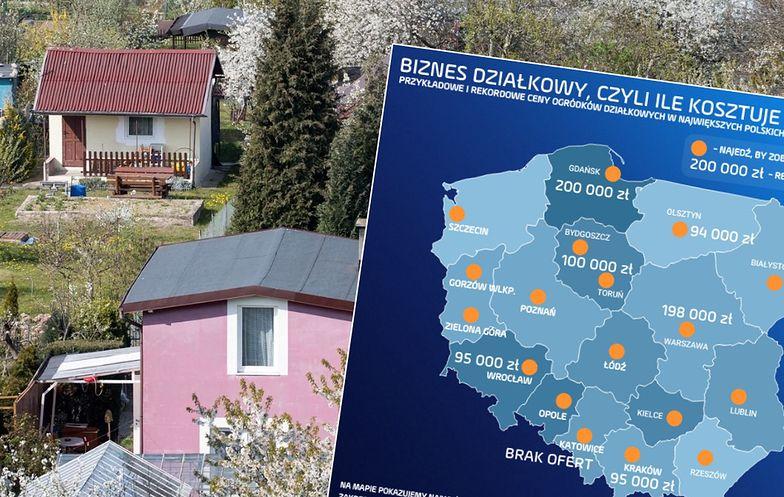Ogródki działkowe potrafią kosztować już niemal 200 tys. zł. Wszystko zależy od stanu domku, lokalizacji i dostępnych mediów.