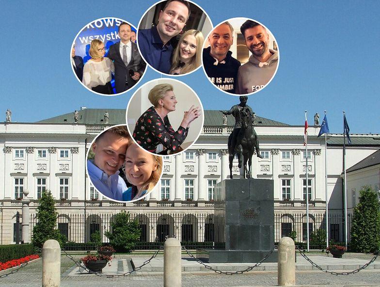 Zdjęcia: Pałac Prezydencki - pixabay.com; Agata Duda - prezydent.gov.pl; Rafał Trzaskowski z żoną - East News; pozostałe pary - oficjalne profile kandydatów na prezydenta na Facebooku.