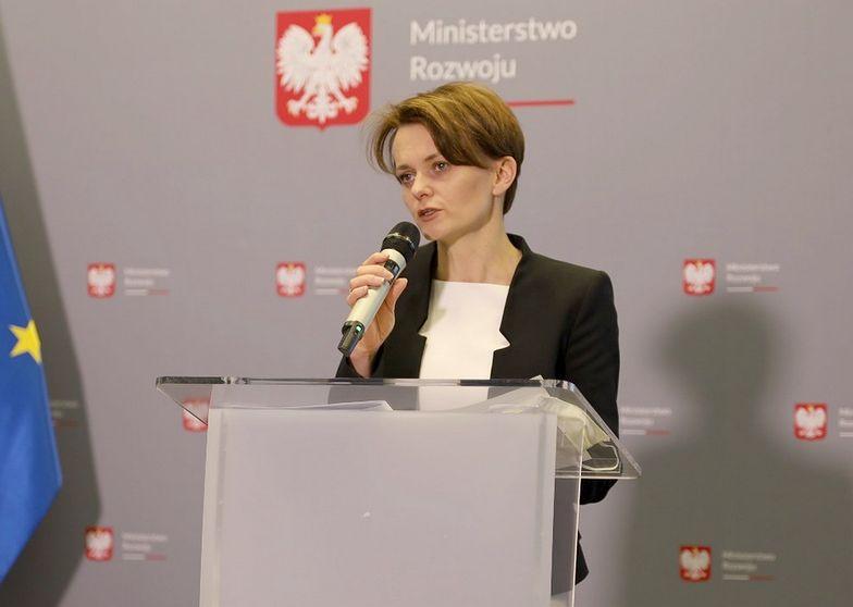 Na zdjęciu minister rozwoju Jadwiga Emilewicz