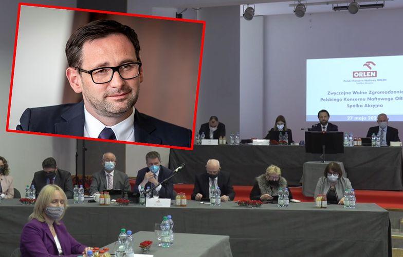 Daniel Obajtek ma poparcie właścicieli Orlenu. Przeciw tylko kilka procent głosów