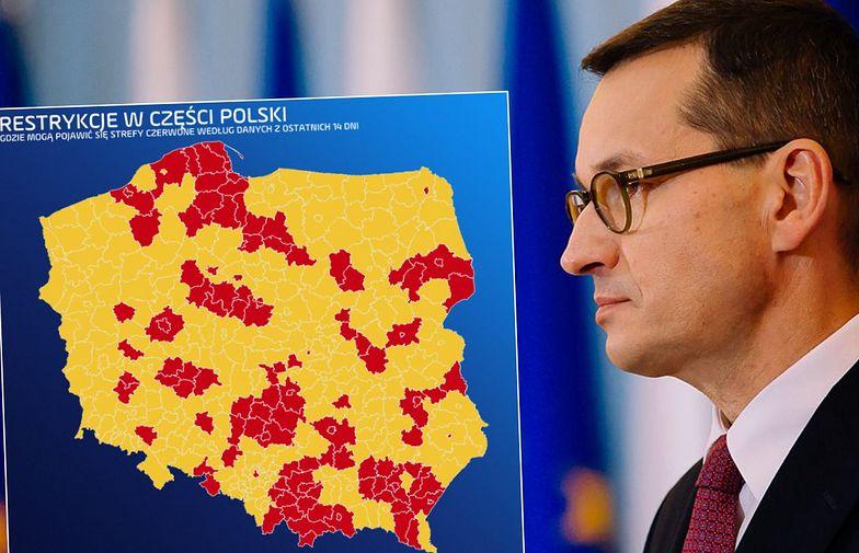"""Mały """"lockdown"""" jest już pewny. Polska świeci się na czerwono"""
