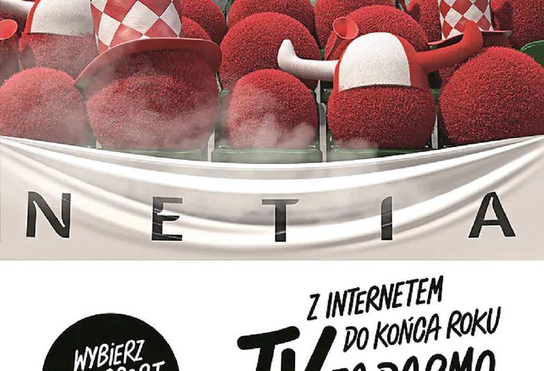 Ujęcie jednej z reklam Netii.