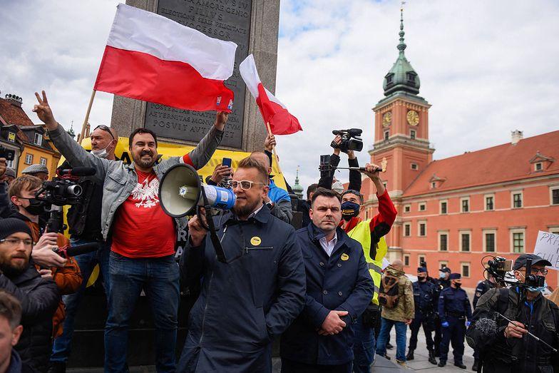 Przedsiębiorcy protestowali w Warszawie. Nie obyło się bez przepychanek i zatrzymań