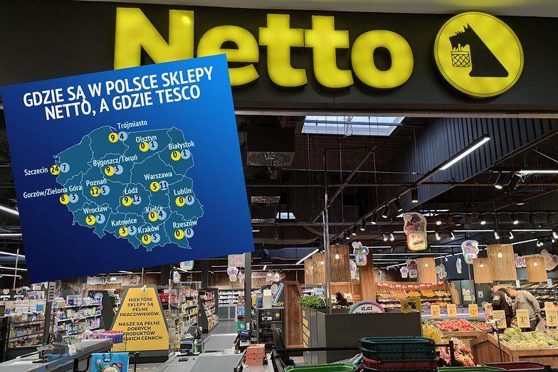 Netto ma teraz 383 sklepy w Polsce. Po przejęciu Tesco będzie miała ok. 700