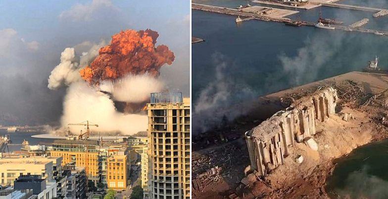 Liban. Eksplozja w Bejrucie pozostawiła ogromny krater