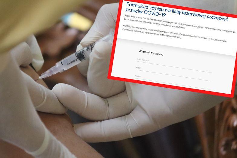 Szczepionkowe listy rezerwowe. Są w wielu szpitalach, choć te wolą się nimi nie chwalić