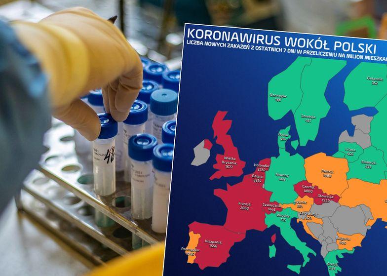 Koronawirus w Polsce i na świecie. Francja bije rekordy, Czechy wciąż bez poprawy