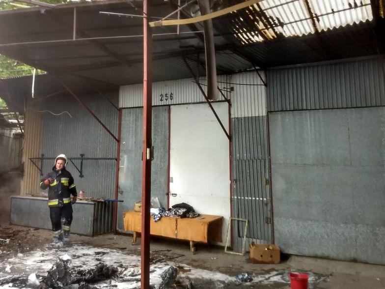 Przygraniczna Łęknica praktycznie żyła z przygranicznego handlu. Teraz klientów nie ma, a targowisko strawił pożar