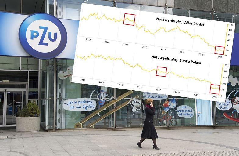 PZU wtopił na inwestycji w banki. Odrabianie strat może zająć wiele lat