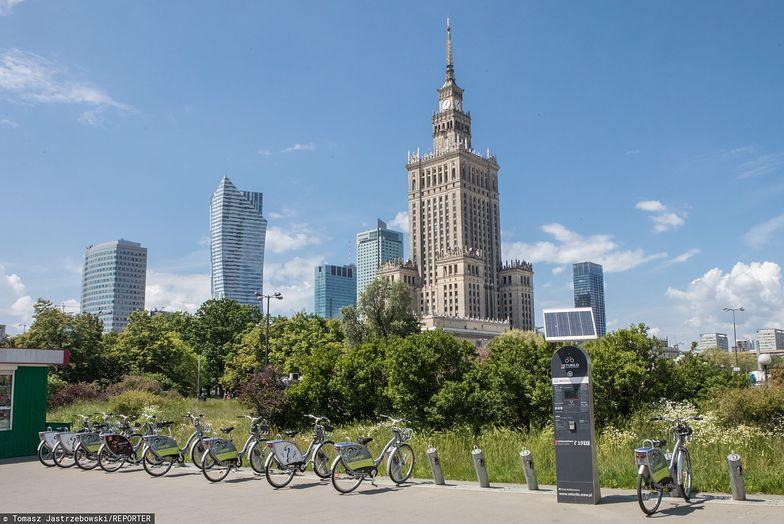 Stacje Veturilo w Warszawie dominują przede wszystkim w centrum miasta