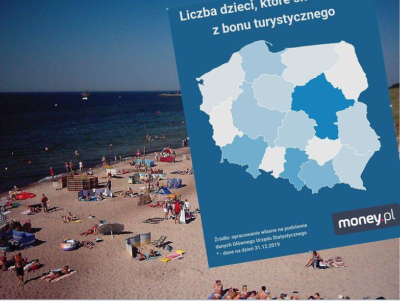 Bon turystyczny dostanie co 5. Pomorzanin. W liczbach bezwzględnych najwięcej bonów trafi na Mazowsze.