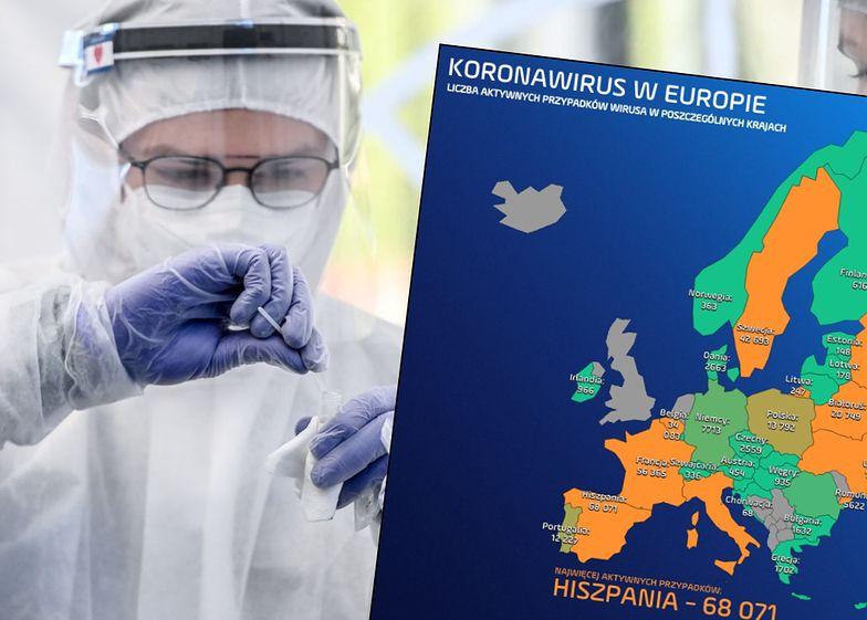 Koronawirus nie odpuszcza. W Europie niemal milion osób wciąż jest chorych