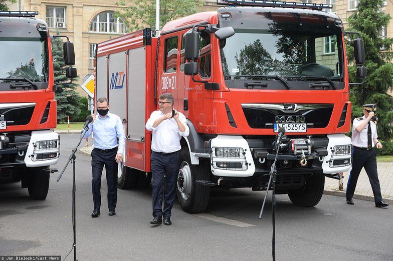 MSWiA tydzień przed głosowaniem zaprosiło gminy do wyścigu o wóz strażacki.