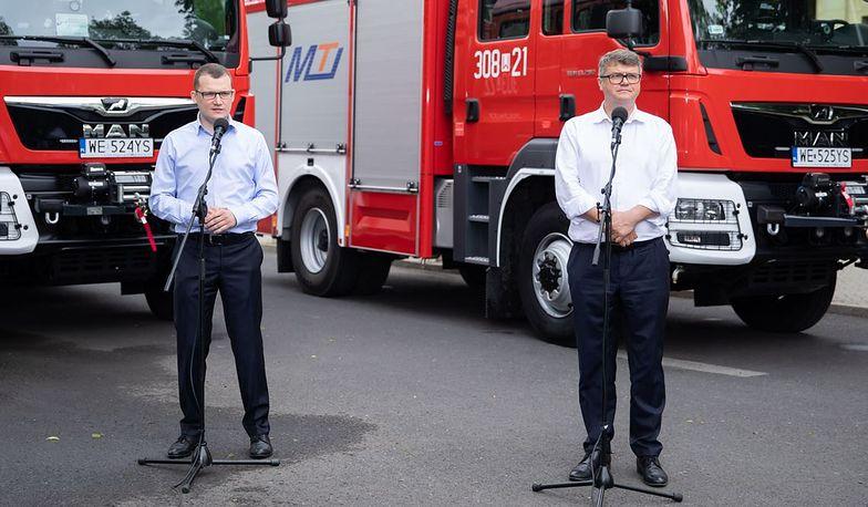 Rząd chce wynagrodzić dobrą frekwencję wozami strażackimi