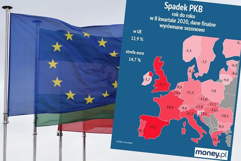 Recesja w UE. Znamy finalne dane. Bezprecedensowe spadki
