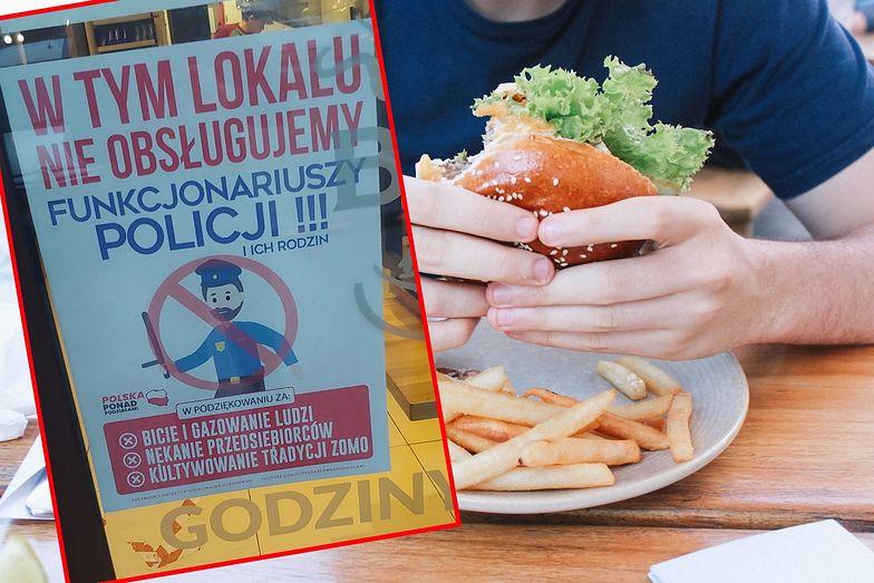 """Toruń. """"W tym lokalu nie obsługujemy policjantów"""". Burza po plakacie na drzwiach restauracji"""