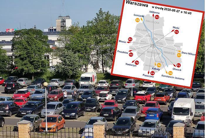 Ulice i parkingi w polskich miastach są znów zatłoczone