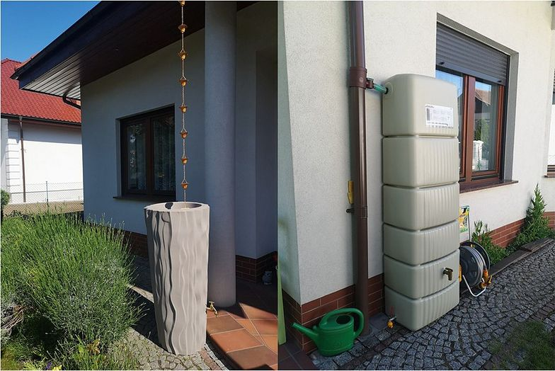1200 litrów wody - tyle w ciągu 1,5 dnia opadów zbierają państwo Adam i Barbara Mostalczuk z Wrocławia.