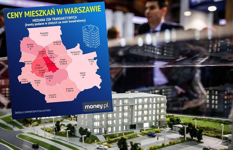 W Warszawie różnice w cenach mieszkań są ogromne.