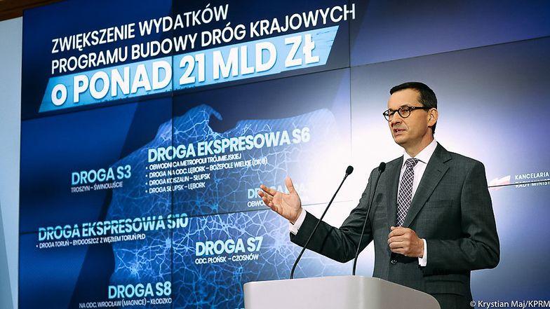 """Rząd dołoży pieniędzy na budowę dróg. Premier: """"wydamy łącznie 21 mld zł"""""""