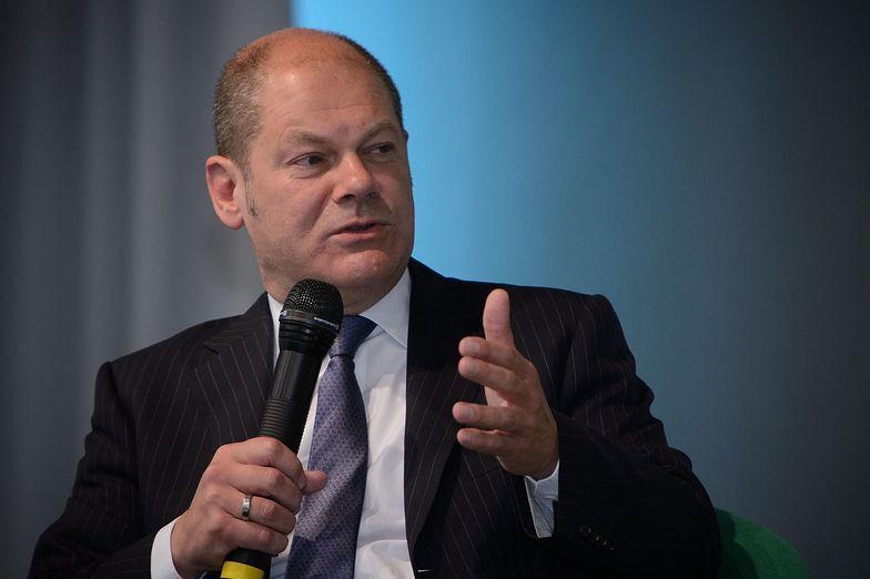 Wicekanclerz i minister finansów Niemiec Olaf Scholz (SPD).