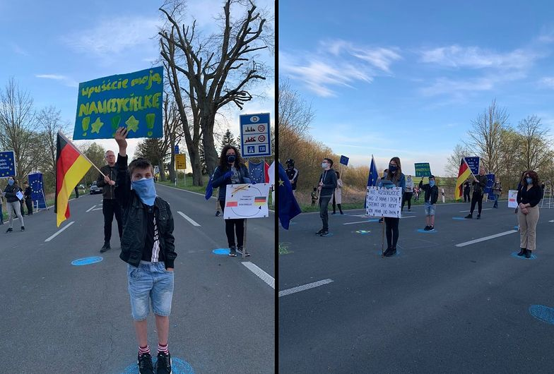 Mieszkańcy pogranicza polsko-niemieckiego protestowali przeciwko restrykcjom dot. przekraczania granic