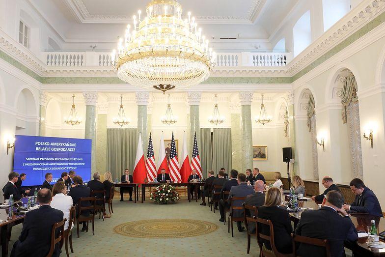 Spotkanie z przedsiębiorcami z USA zorganizowano po powrocie prezydenta z Waszyngtonu.