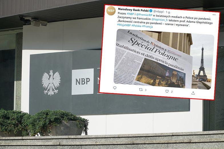 Szef NBP we francuskim dzienniku. Radzi, jak wyjść z kryzysu