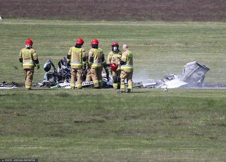 Katastrofa samolotu w Zielonej Górze. Pilot zginął na miejscu