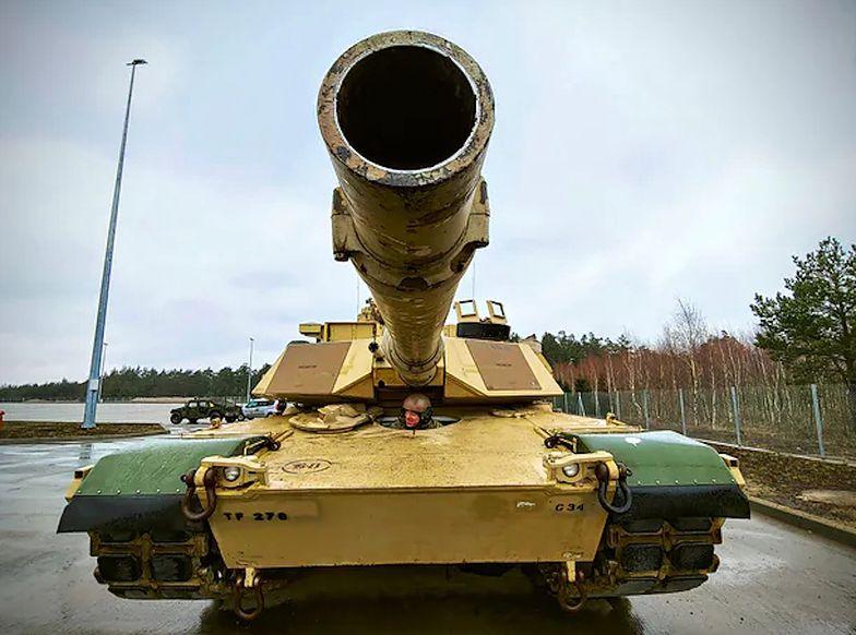 M1 Abrams należący do 278 Regimentu Kawalerii Pancernej US Army, stacjonującej rotacyjnie w rejonie Orzysza.