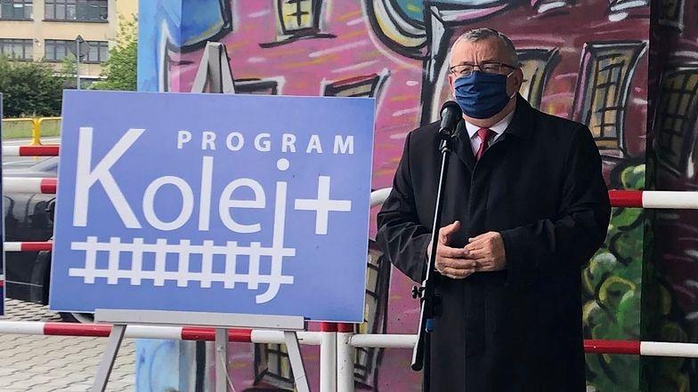 Start programu Kolej Plus zapowiedział minister infrastruktury Andrzej Adamczyk.