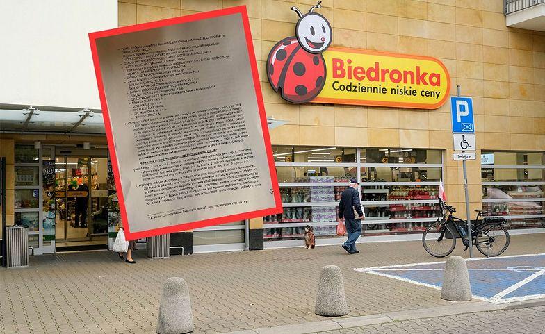 """Ujawniamy dokumenty. Gigantyczna kara dla Biedronki. Poszło o """"wsteczny rappel extra"""""""