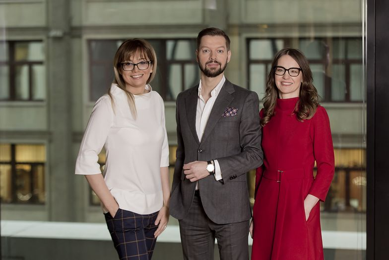 Monika Woźniak, Michał Pawlik i Agnieszka Gołębiowska - zarządzający firmą SMEO