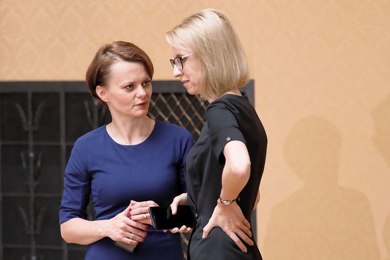 Teresa Czerwińska i Jadwiga Emilewicz - dwie główne aktorki sporu o test przedsiębiorcy