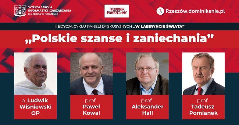 """""""Polskie szanse i zaniechania"""" – o wykorzystanych i straconych możliwościach rozwoju naszego kraju dyskutować będą przedstawiciele świata nauki, Kościoła i polityki"""