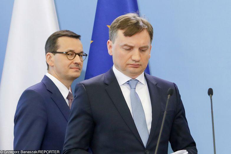Mateusz Morawiecki murem za ministrem Ziobro.