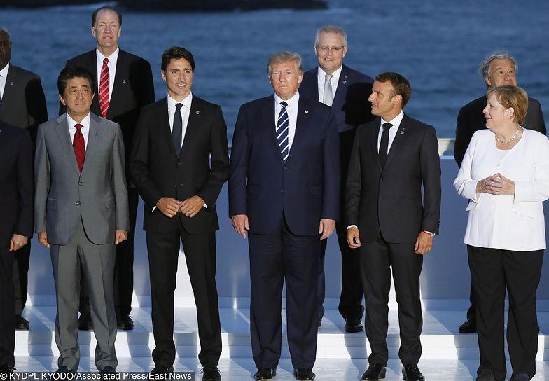 Szefowie państw Grupy G7 na szczycie w Biarritz.