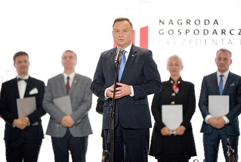 Andrzej Duda podczas Kongresu 590 w Jasionce przyznał Nagrody Gospodarcze Prezydenta RP