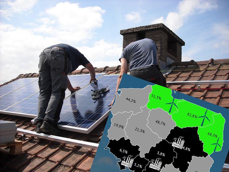Dachy porastają panelami fotowoltaicznymi, ale OZE to i tak wciąż ułamek produkowanej w Polsce energii
