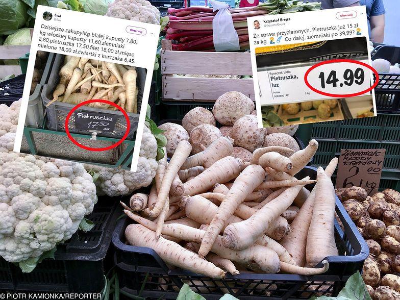 Emocje wokół cen warzyw, zwłaszcza pietruszki