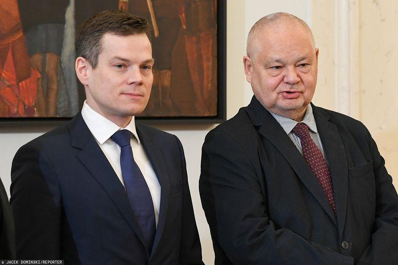 Prezes KNF Jacek Jastrzębski i szef NBP Adam Glapiński.