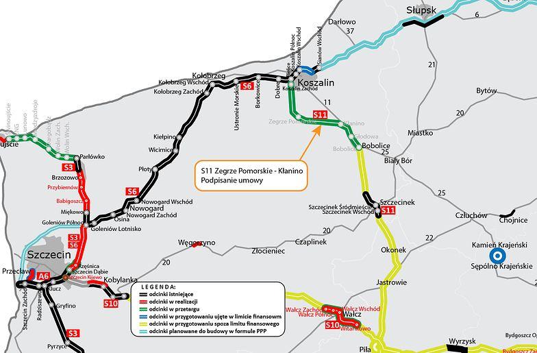 Umowa na budowę kolejnego odcinka trasy S11 podpisana