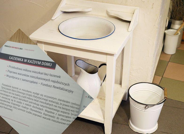 Łazienka+ to odpowiedź KO na problem braku ustępów i sanitariatów w polskich domach.