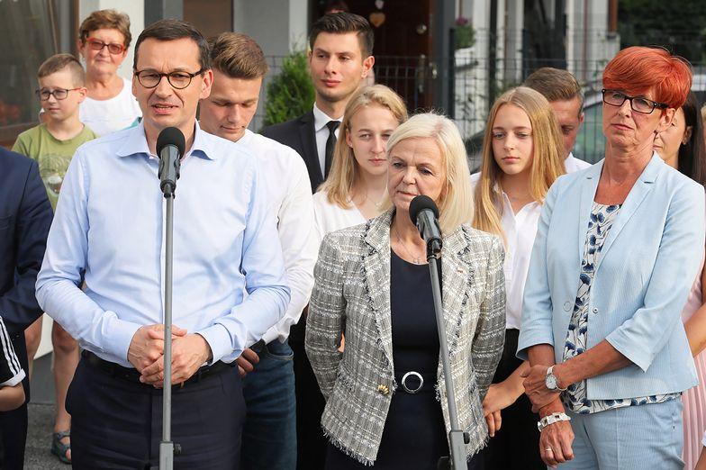 Mateusz Morawiecki, Bożena Borys-Szopa i Elżbieta Rafalska