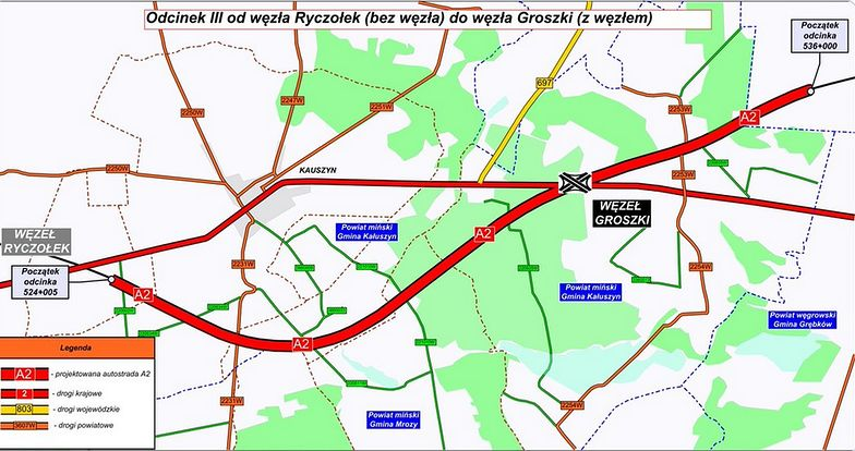 GDDKiA ogłasza przetarg na projekt i budowę kolejnego, 12,5 km odcinka autostrady A2 między Mińskiem Mazowieckim a Siedlcami