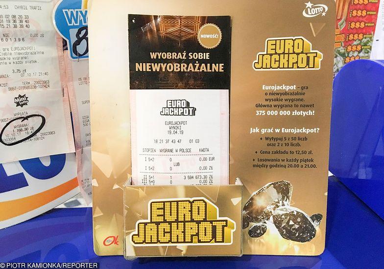 Eurojackpot. Rekordowe 193 mln zł wygrał mieszkaniec powiatu piotrkowskiego