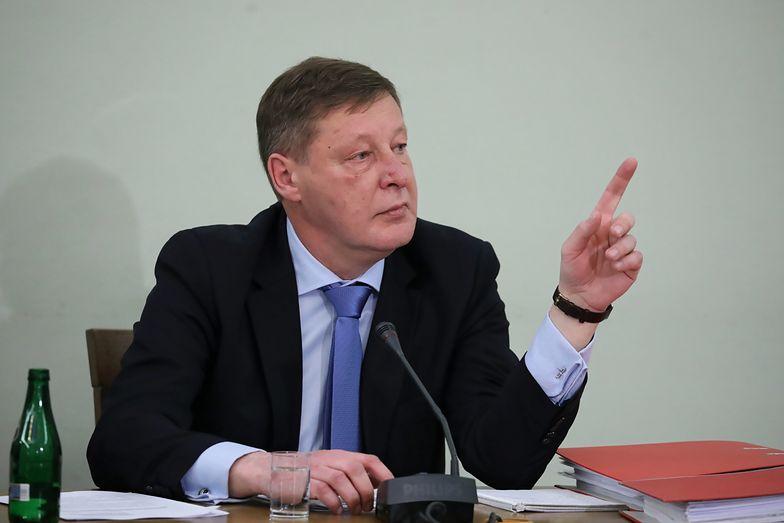 Warszawa, 06.02.2019. Były wiceminister finansów Andrzej Parafianowicz zeznaje przed Komisją Śledczą ds. VAT.