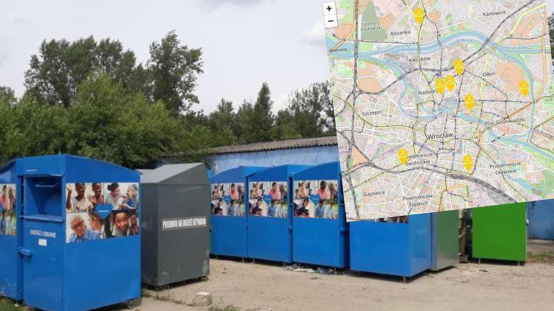 Wrocław wskazuje kontenery, do których bez obaw można wrzucać znoszone ubrania